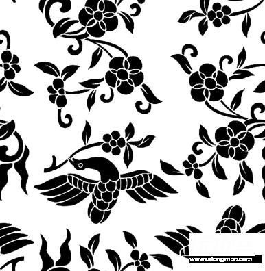 欧式花纹图腾矢量图 矢量花卉花纹 矢量素材 素彩