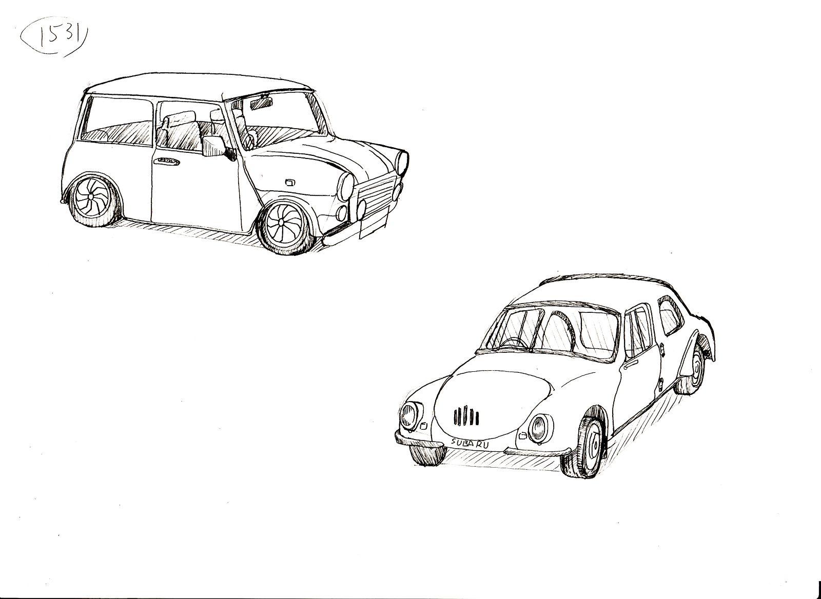 新型汽车设计图手绘