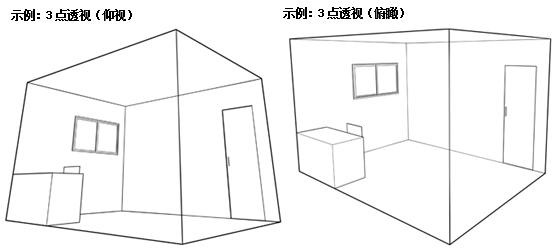 常用成角透视两点透视画法 www 16399 net 宽550x792高