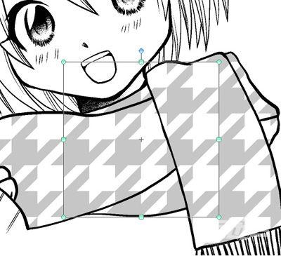 粘贴的网点纸为一张图像素材图层.