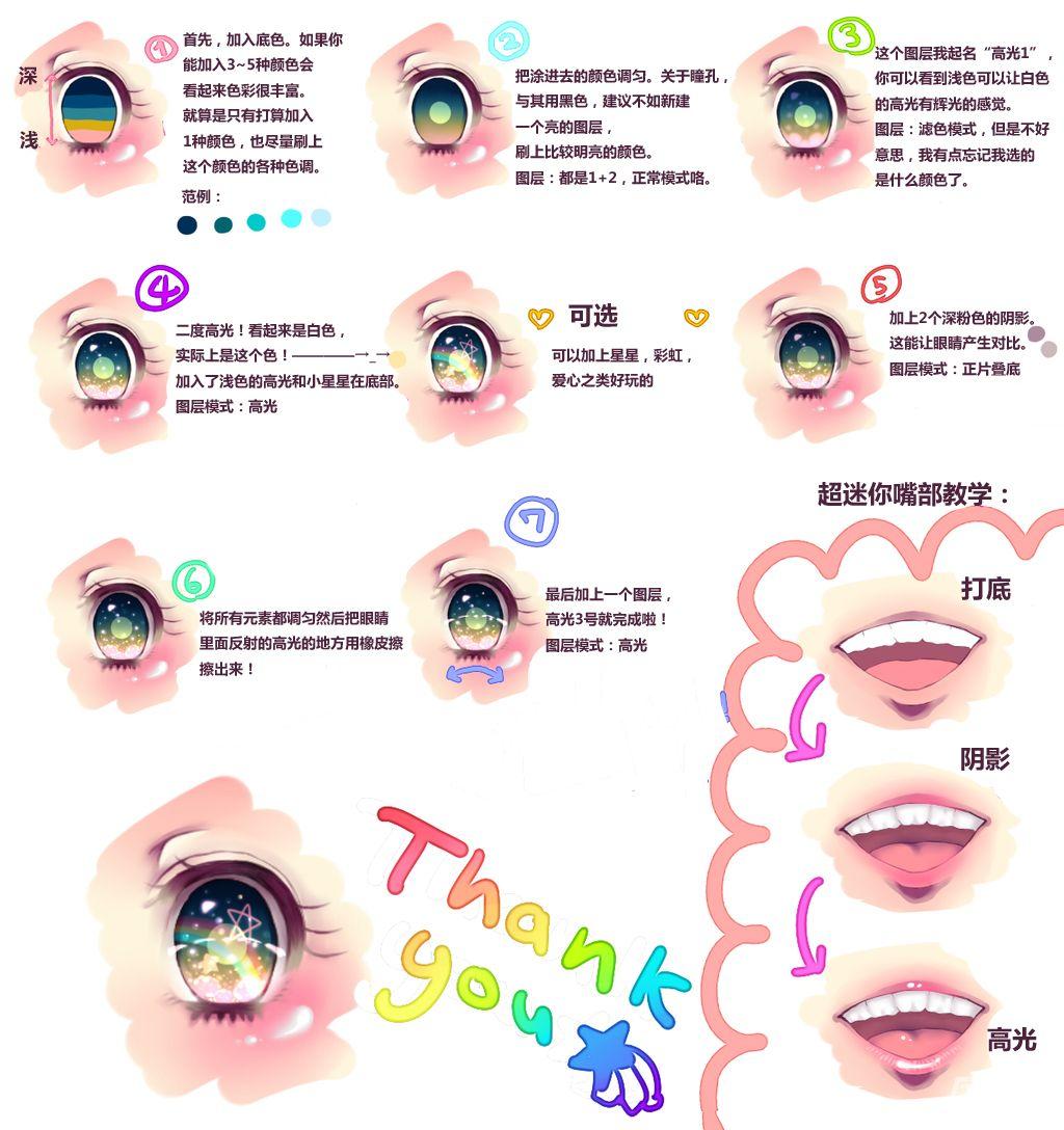 首页 教程 彩虹眼画法