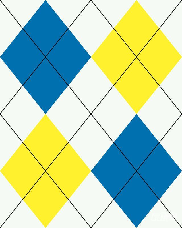 彩色菱形图案背景素材