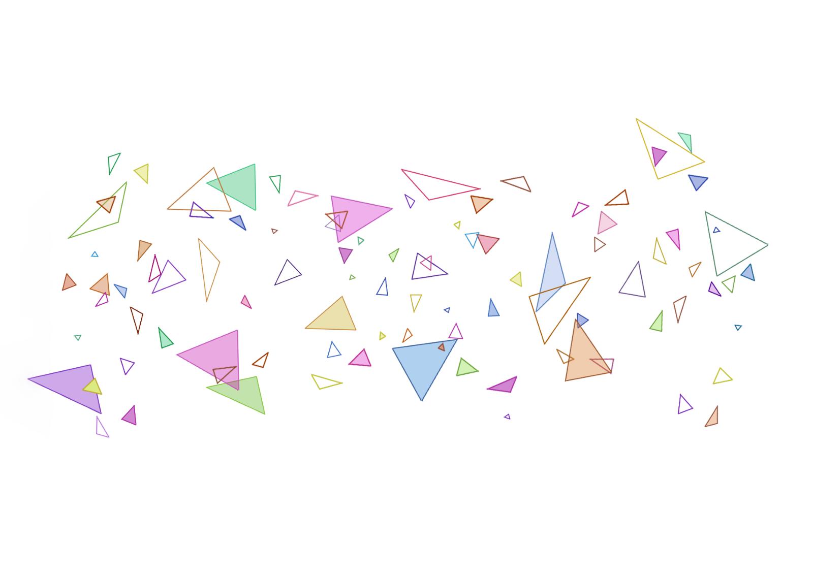 三角形碎片素材(png)