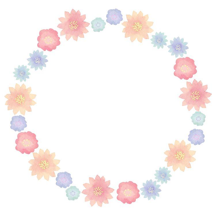 水彩花朵边框素材