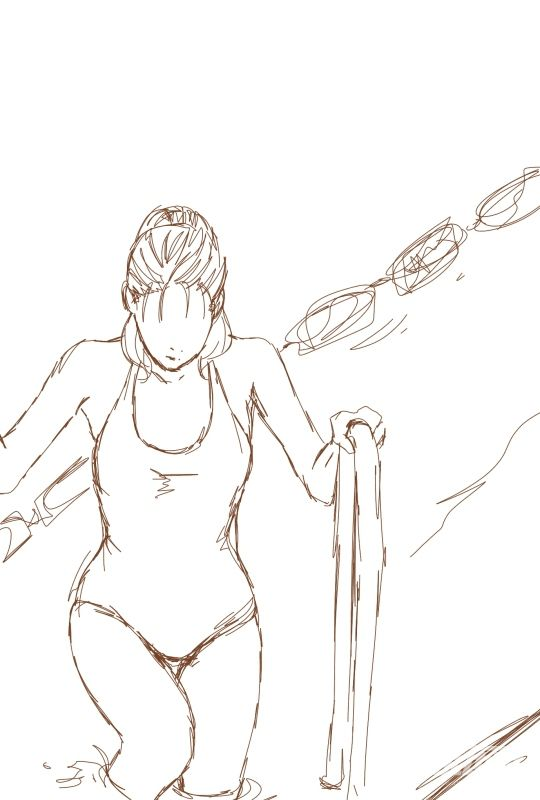 泳衣姿势素材