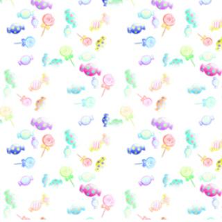 水彩色铅笔画(糖果)2