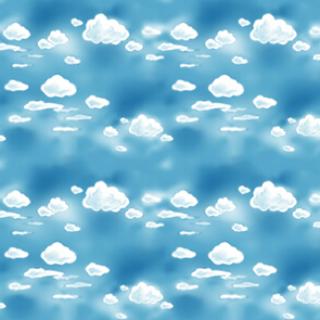 蓝天白云水背景素材